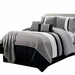 Negeen Luxury 7 Piece Comforter Sets With Decorative Pillows