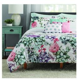 New 10 Piece Jade Floral Queen Size Comforter Set Bed in a B