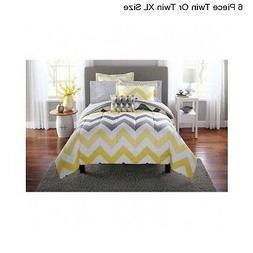New Yellow Grey Twin / Twin XL Size Comforter Set Bedding Be