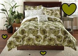 Palm Grove Bed in a Bag Comforter Sheets Set Tropical Trees