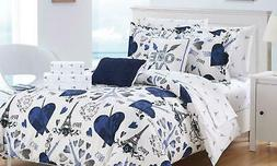 Chic Home Paris 7Pc Comforter Set - Navy - Size: Twin