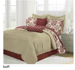 Patina 10 Piece Comforter Set Red Queen Fashion Bedding Bedr
