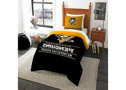 Pittsburgh Penguins Comforter Set Twin Bed NHL 2pc Official