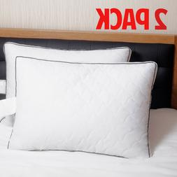 Queen Size Bed Pillows 2 Set Goose Down Feather Pillow Extra