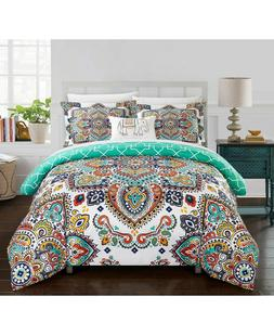Chic Home Raypur 6-Pc. Boho Reversible Paisley Comforter Set