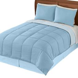 Collections Etc Rev.down Alternative Comforter BLUE/LIGHT BL