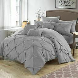Chic Home 10-PC Salvatore Comforter Set - Silver - Size: Que