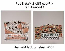 """""""Set 7""""-4 Piece Title & Mat Set-CHOOSE ONE-Great For Pages/C"""