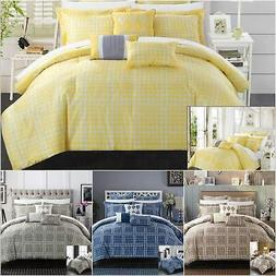 Chic Home Sicily 8 Piece Comforter Set Reversible Jacquard S