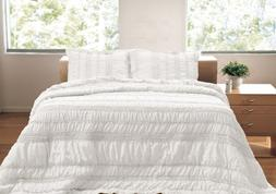 Greenland Home 3-Piece Tiana Quilt Set, Full/Queen, White