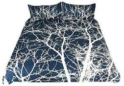 Arightex Tree Bedding 3 Pieces Tree Branches Duvet Cover Set