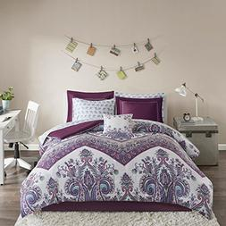 Intelligent Design Tulay Complete Bed and Sheet Set Purple Q