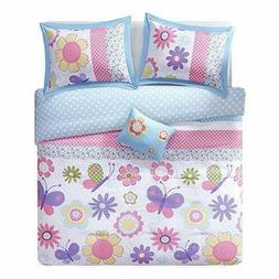 Twin Comforter Sets For Girls Kids Butterfly Floral Print Be